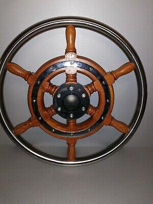 Ultra.-und Teleflexlenkung Bootslenkrad Steuerrad Mahagoni//Edelstahl für Multi.