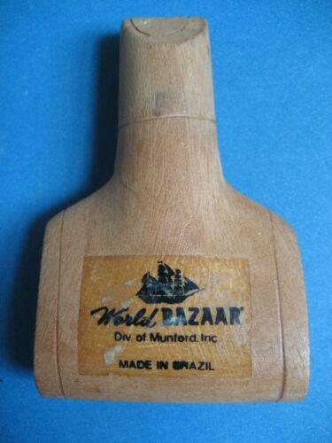 World Bazaar Wood Whistle VINTAGE Munford Inc MADE BRAZIL