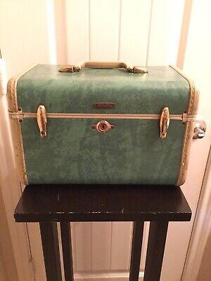 Vintage Samsonite Robins Egg Blue Hard Train Case Luggage