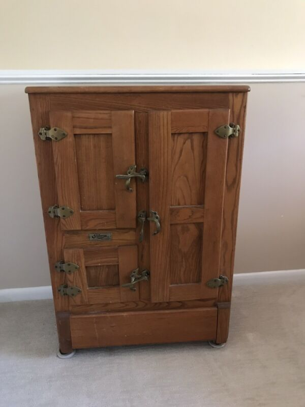 Antique Gibson Cambria Oak Ice Box.