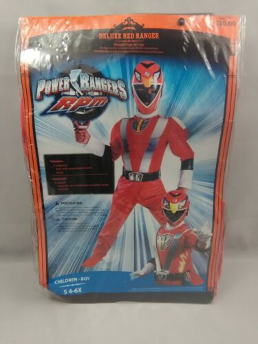 Power Rangers RPM Deluxe Red Muscle Ranger Costume Child 4-6X Small New