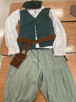 Renaissance Outfit - Merchant's Breeches, Shirt, Doublet - Green - Med/Lge
