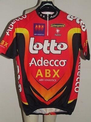 BIKE CYCLING JERSEY SHIRT MAILLOT CYCLISM TEAM LOTTO ADECCO NALINI size XL