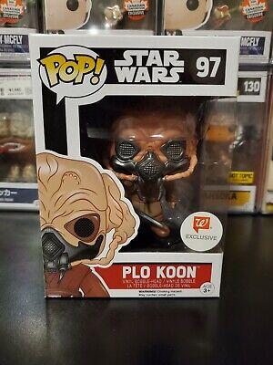 Funko Pop! Star Wars Plo Koon #97 Walgreens Exclusive Bobblehead WITH PROTECTOR!