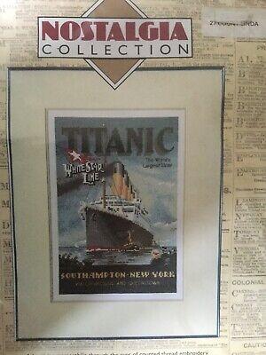 Heritage Stitchcrafts: Nostalgia Cross stitch Kit - 'Titanic'
