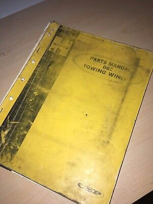Hyster Cat Tractor D6e Towing Winch Parts Owner Operator Operation Manual Book