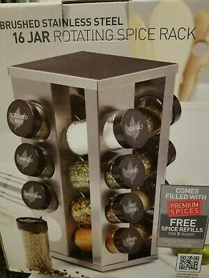 Kamenstein, 5084920 Heritage 16-Jar Revolving Countertop Spice Rack Organizer