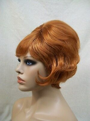 60s Beehive Wig Natural Red 70s Housewife Groovy Fun Wedge Mrs Garrett Laverne 60s 70s Wigs