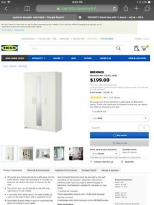 Brimnes wardrobe ikea   As new condition