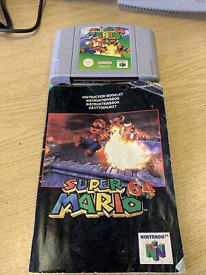 Super Mario 64 - N64 Nintendo 64 - Cartridge And Manual only - Pal