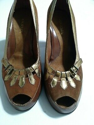 Womens Aerosoles Brown Leather/Suede Pumps 3