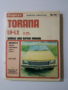 Torana LH-LX service and repair manual  Two Wells Mallala Area Preview