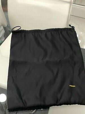 FENDI Empty Shiny Black Shoe Dust Bag/Duster
