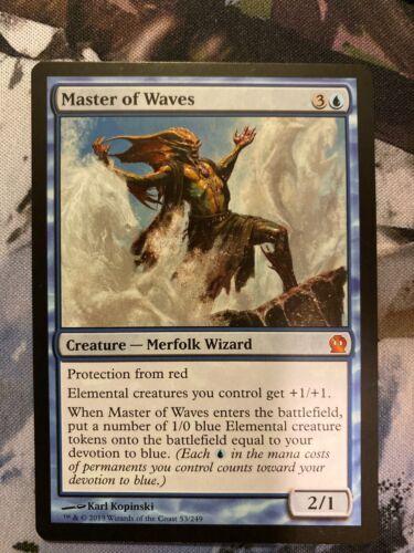 1 PLAYED Master of Waves Blue Theros Mtg Magic Mythic Rare 1x x1