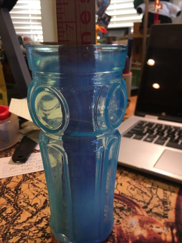 Antique Blue White Milk Glass Rare