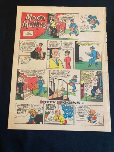 #26 MOON MULLINS By Ferd Johnson Lot of 2 Sunday Tabloid Full Page Strips 1966