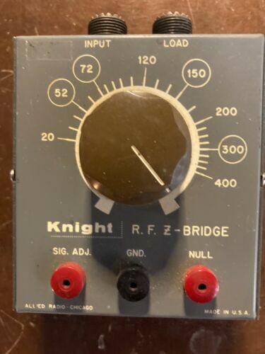 Knight RF Z-Bridge Antenna Tuner Allied Radio Chicago USA Great Condition