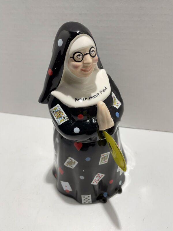 Westland Giftware Rare Poker Habit Fund bank Fun Nuns Cookie Habit Jar 2006 NIB