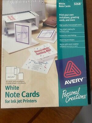 Avery Personal Creations White Note Cardsenvelopes 26 Ct For Ink Jet Printers