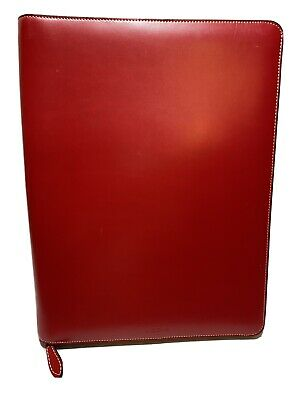 Lodis Audrey Zippered Portfolio Leather Letter Note Pad 10 X 12 12 Inch