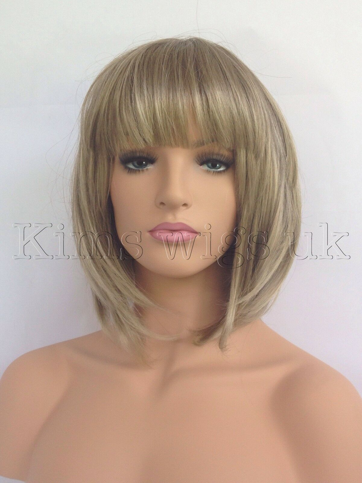New Ladies Womens Light Brown Blonde Mix Short Bob Style