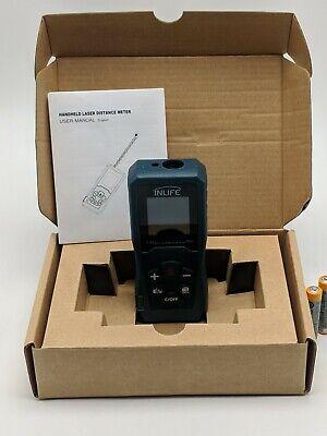 Inlife Digital Laser Distance Meter 197ft 60m Backlit Lcd Measure Volume Area