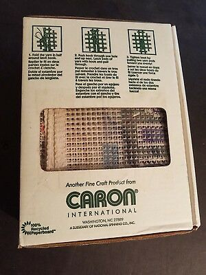 Caron Latch Hook Kit Canvas Yarn Instructions & Tool Jeff Gordon #24 (Latch Hook Instructions)