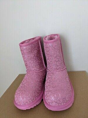 UGG Australia Kids Classic II Glitter Leopard Boots Size 2 NEW NIB