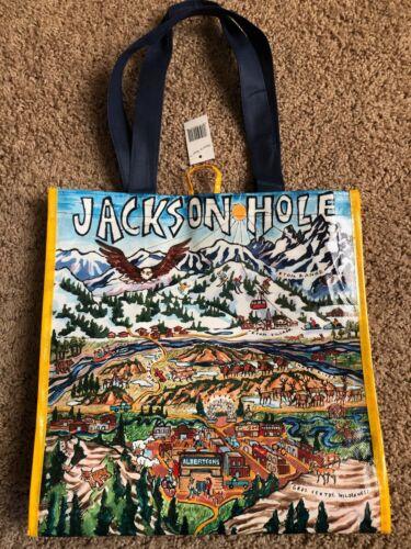 NEW Jackson Hole Wyoming Teton Mountains Reusable Tote Albertsons Shopping Bag