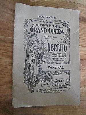 Metropolitan Opera House Parsifal 1948 Pulication