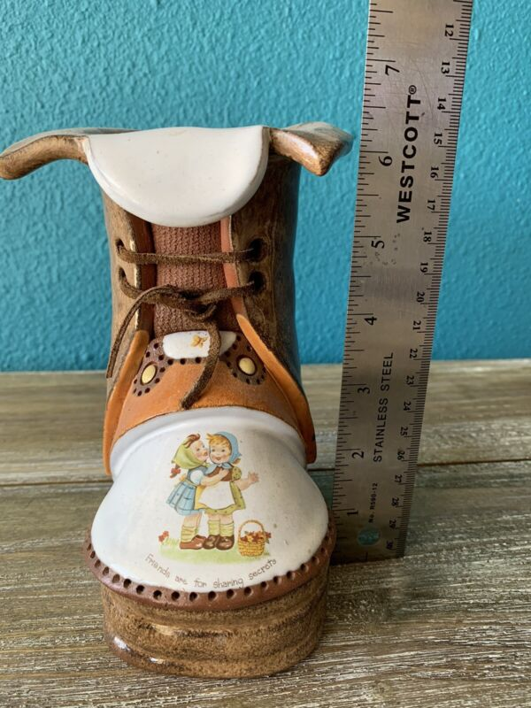 The Clay Cobbler Vintage Ceramic Boot Friendship Pot Decorative Pottery