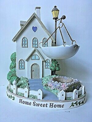 """Yankee Candle Wax Tart Warmer """"Home Sweet Home"""" Cottage House Shabby Chic Garden"""