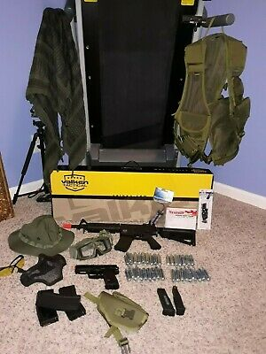 Valken Tactical Airsoft BB Rifle and HK Airsoft Pistol with Accessories Bb Gun Accessories