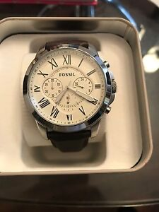 FOSSIL GRANT LEATHER WATCH FOR MEN