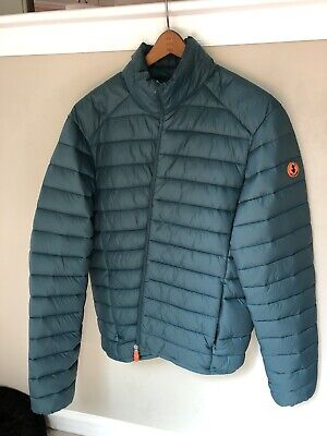 Save The Duck Puffer Jacket Quilted Mens Medium Green