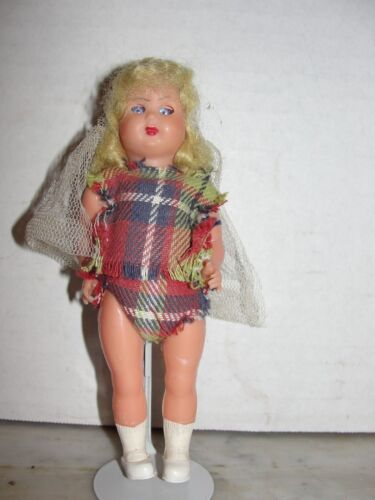 """VINTAGE 6"""" PLASTIC DOLL - MADE IN ITALY"""