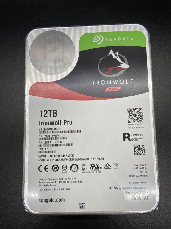 Seagate Ironwolf Pro 12tb - ST12000NE0007