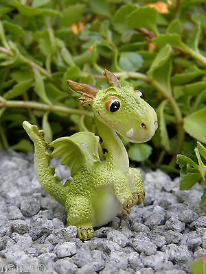 Miniature Dollhouse FAIRY GARDEN ~ Mini Dragon CUTE Standing Figurine ~ NEW