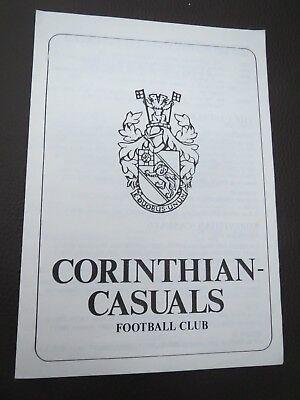 Corinthian Casuals V Merthyr Tydfil FA Cup 1983/4