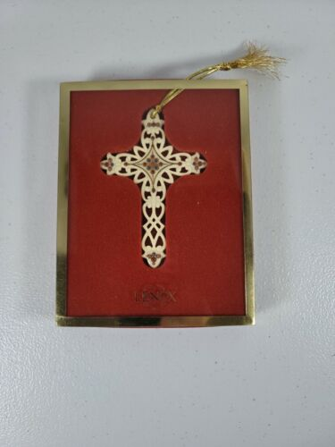 LENOX Cross Christmas ORNAMENTS IN BOX