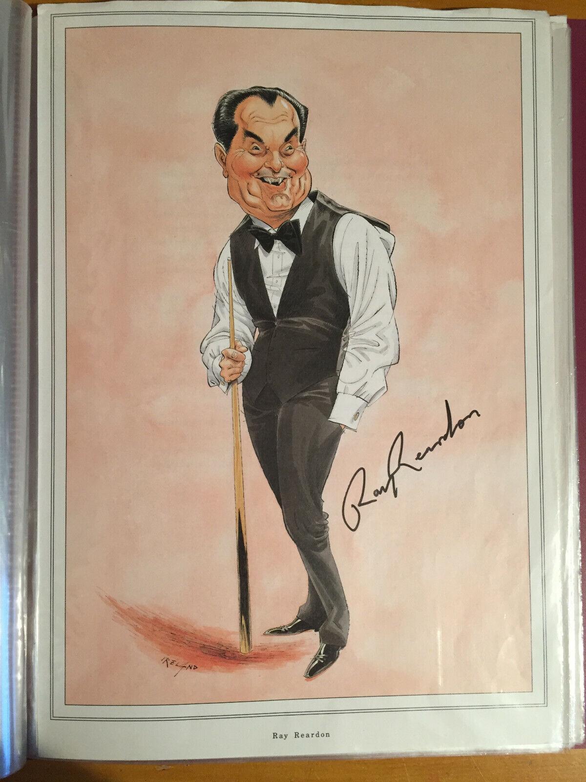 1980s 18 Signed John Ireland Snooker Celebrities Cartoon prints Reardon Thorburn