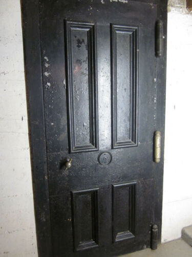 Martin Briggs Vault Safe Door & trim casing + fire door  antique 1858 old Bank