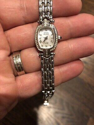 Womens anne Klein Swiss Sterling Silver Watch  753s Vintage