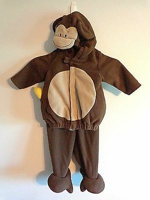 Monkey And Banana Costume (Old Navy Monkey Costume Baby 6-12 Mo 2 Piece Top and Pants Brown Banana)