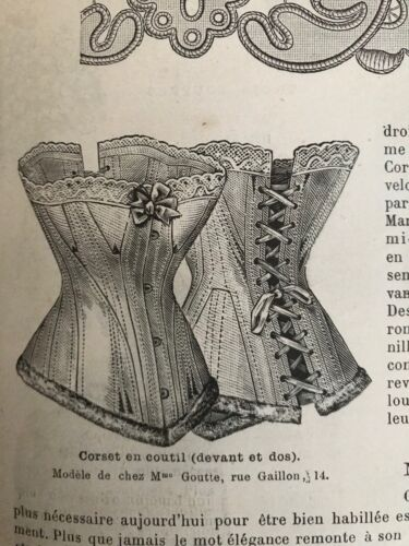 MODE ILLUSTREE SEWING PATTERN March 9,1884 - Corsets