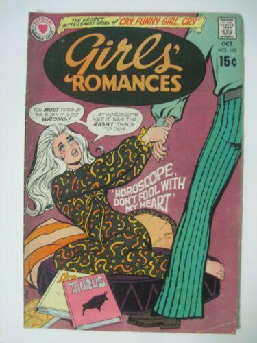 "GIRLS ROMANCES #152 DC COMICS 1970 ""HOROSCOPE DON"