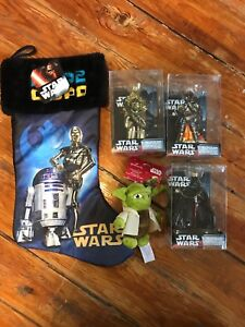 Star Wars Christmas ornament and stocking lot