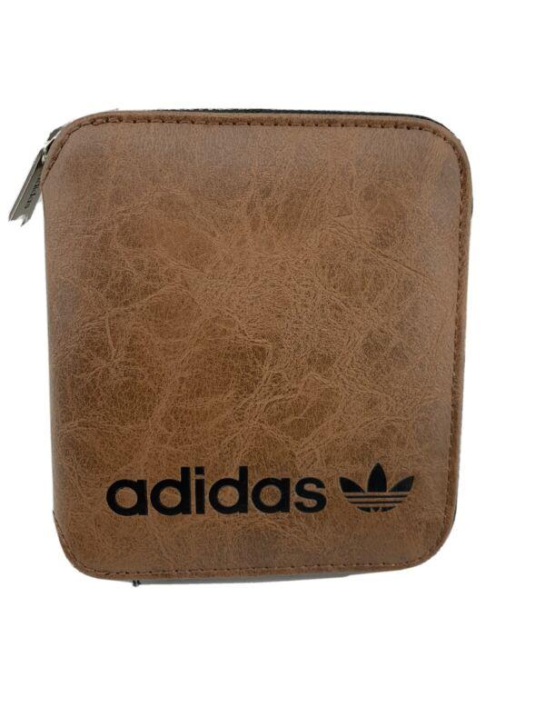 Adidas Brown Zipper Wallet