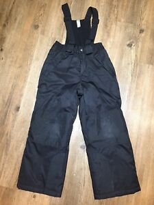 Snow pants- black, kid's size 6/7