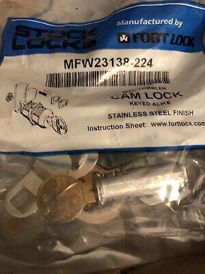 Stock Locks By Fort Lock Mfw23138-224 Keyed Alike Cam Locks 1 38 Stainless